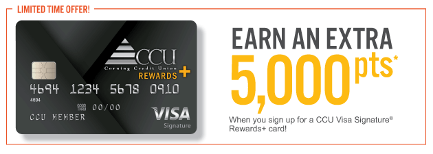 CCU Visa Signature Rewards Promo Earn 5000 points